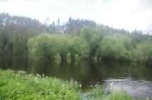 La mise à l'eau se fait à plusieurs mètres du lit de la rivière